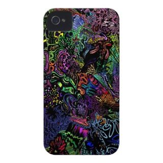 abstract neon Iphone case iPhone 4 Case Mate Cases