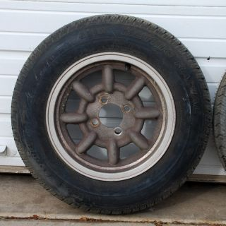 Fiat 124 Western Wheel Set Tires Wheels 155 R13 13 5 5