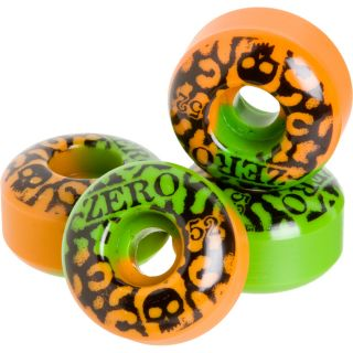 Zero Skull 52mm Skateboard Wheel   Leopard Orange / Green   Chris Cole