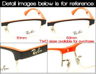EyezoneCo Ray Ban Half Rim Acetate Frame RB7012 53 2486