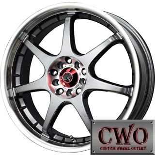17 Gunmetal Drag Dr 51 Wheels Rims 4x100 4x114 3 4 Lug Civic Integra