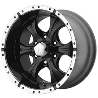 17x9 Black Wheel Helo HE791 5x5 5 Dodge RAM Rims