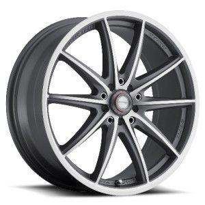 17 inch 17x7 Ninja NJ05 Gray Wheels Rims 5x4 5 Mazda 626 929 MX5 Miata