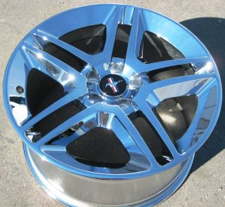 YOUR STOCK 4 NEW 19 FACTORY FORD MUSTANG GT500 OEM CHROME WHEELS RIMS