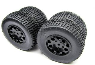 TA SC10 WHEELS/TIRES, 12mm hex (#91101, 89413, 9809), Team Associated