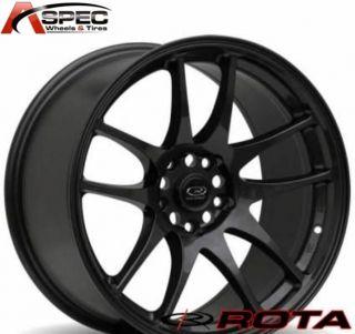 Rota Torque 17x9 5x100 E30 56 1 Flat Black Rim Wheels