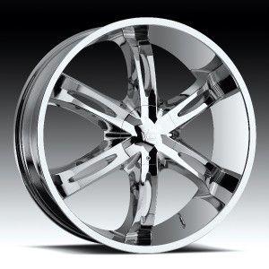 24 inch Vision Hollywood 6 Chrome Wheels Rims 5x120 8
