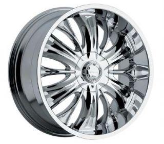 20 inch Panther Python Chrome Wheels 5x4 75 5x120 65