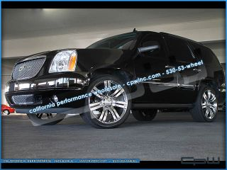 24 inch Cadillac Escalade Chrome Plated Wheels Rims Tires Package