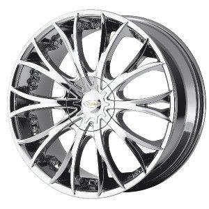 20 inch DIAMO 38 Karat Wheels Rims 5x120 Bright PVD 38