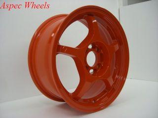 Rota Attack 4x100 15x6 5 ET40 67 1 Orange Wheels Rims