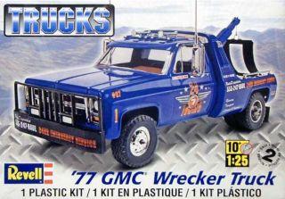 Revell 77 GMC Wrecker Truck Plastic Model Kit 1 25 85 7220