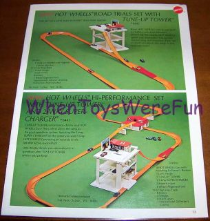 1970 Hot Wheels Redline Tune Up Tower Race Set Trade Ad