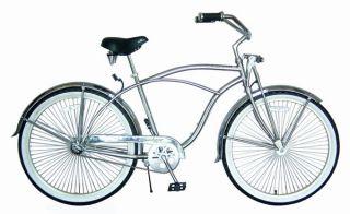 New 26 Beach Bicycle Cruiser w 68 Spokes Bike Chrome