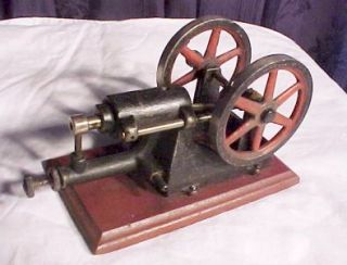 Antique Toy Steam Engine with Two Bull Wheels No Boiler Neat