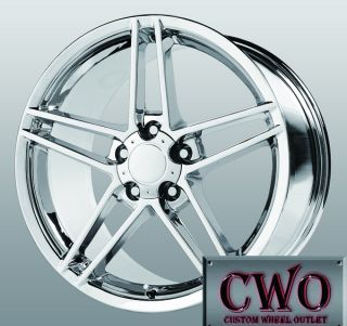 17 Chrome Replica C6 ZO6 Wheels 5x4 75 5 Lug Corvette