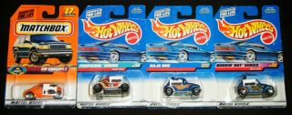 HOT WHEELS & MATCHBOX VOLKSWAGON BUG SET: 3 Different Baja Bugs & VW