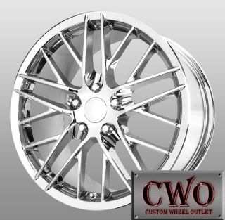18 Chrome Replica 2009 ZR1 Wheels 5x4 75 5 Lug Corvette