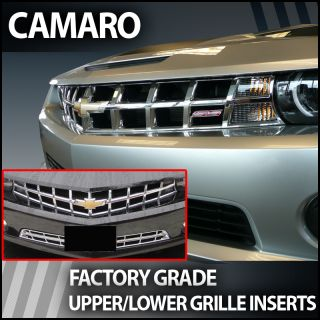 Perfectly Fits 2010 2013 Chevy Camaro Chrome Grille Insert Upper