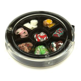 80 Assorted Nail Art Christmas Slices in A Wheel