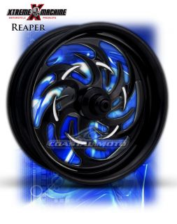 Machine Reaper Black Motorcycle Wheels Street Road Glide Touring