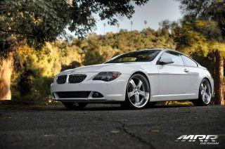 22 MRR GT4 Wheels Silver BMW 7 Series 745 750 E65 E66 Lip 5 Spoke