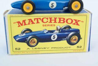 . 52 B B.R.M Racer MINT in E BOX°Lesney Regular Wheels°Racing Car