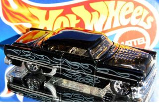Hot Wheels Custom 53 Chevy Exclusive Black w Flames