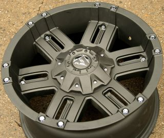 Fuel Gauge D505 18 Black Rims Wheels Toyota Tundra 07 Up 18 x 9 0 5H