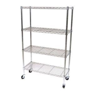 New 14 x 36 x 54 NSF Chrome Wire Shelving w Wheels