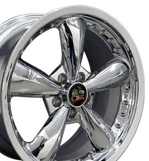 10 Chrome Bullitt Wheels Bullet Rims Fit Mustang® GT 94 04