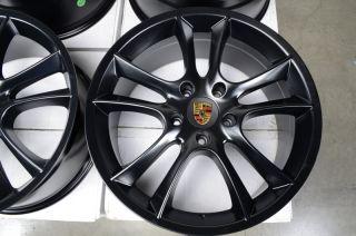 20 5x130 Wheels Matte Black Volkswagen Touareg Porsche Panamera