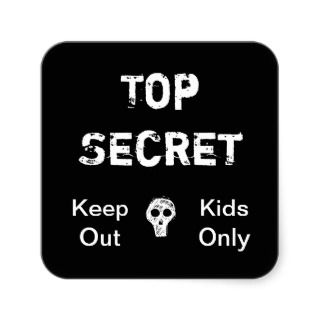 Top Secret Kids Stickers