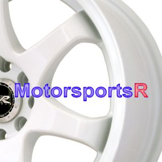 16 16x7 XXR 522 White Concave Rims Wheels 92 95 98 02 Honda Civic SI