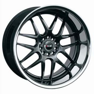 XXR 526 Chromium Black Wheels Chr Lip 17x9 4x100 4x114 3 Rims