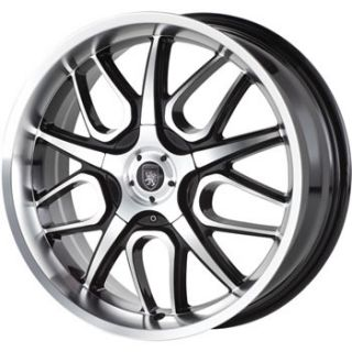 VM2 5x100 5x115 Black and Machined Wheel Rims Sale Grand Prix