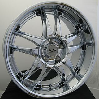 18x8 5 Chrome Decadence Wheels Rims 5x112