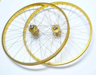 BMX 20 x1 75 Wheels Set F R Bike Bicycle Rims Gold