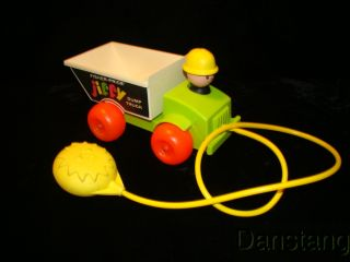 For your consideration we have a vintage Fisher Price Jiffy Dump Truck