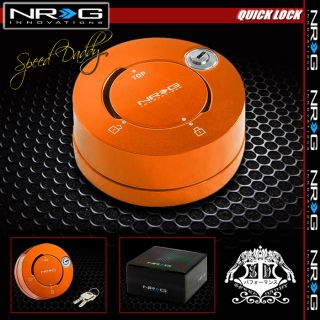 NRG Thin Steering Wheel Short 6 Hole Quick Release Lock w Key Adaptor