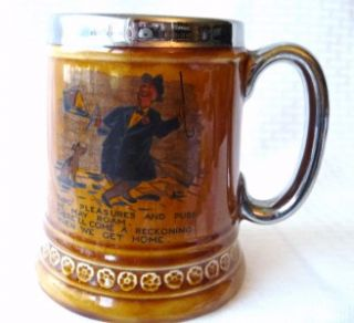 Lord Nelson Pottery Beer Stein England 11 68 Humerous