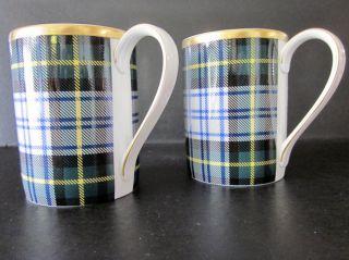 Ralph Lauren Coffee Mugs Dress Gordon Tartan