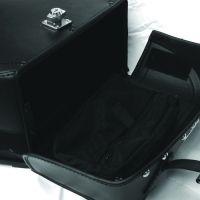 108L Lockable Motorcycle Tek Leather Saddle Bags Harley Universal Fit
