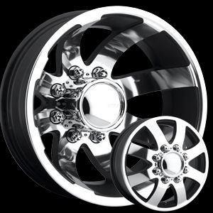 17 x6 5 Eagle 0976 0986 Chrome Wheels Rims 8 Lug Dually