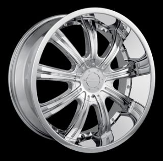 20x8.5 Chrome Veloche Vapor Wheels 5x115 5x5 +18 CHEVROLET SUBURBAN