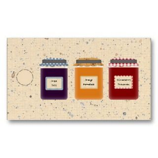 Country Jelly Jars Hang Tag /Gift Tag Business Card