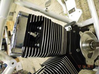107 Ultima Motor Engine EVO Black Chrome Billet Rocker Covers Harley