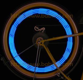 Genuine Bike Bicycle Spoke Wheel Flash Light DIY Word Pic Tire Tyre