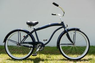 26 Man Beach Cruiser Bike Bicycle Single Speed Color Midnight Blue