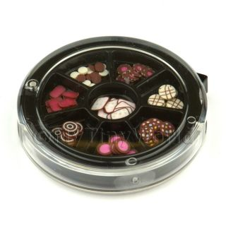 80 Assorted Nail Art Chocolate Slices in A Wheel Set 1